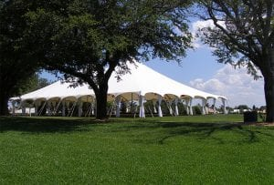 A variety of large tent options