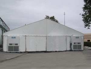 Tents can be climate controlled even in Florida's Summers