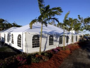 40' x 60' frame tent with window sidewalls.