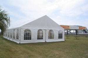 8'' high window sidewalls in a 30'' x 60'' frame tent.