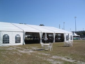 20m x 25m structure tent with window sidewalls