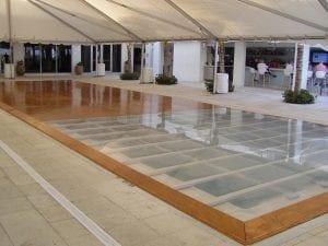 Custom Pool Dance Floor