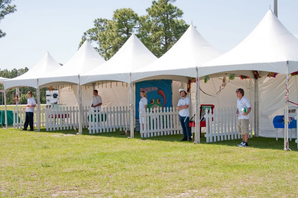 ... Hi-peak tents and white picket fence used for small carnival games at a recent ... & Picnic by Eventmakers.net out door covered picnic areas and ...