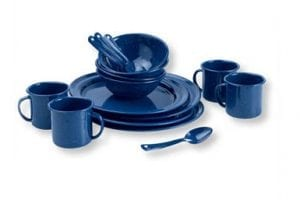 Blue Speckled Enamelware China