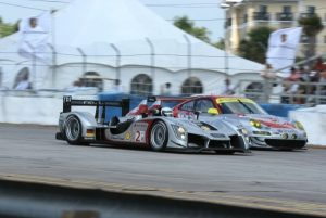 40'' x 40'' hospitality pole tent with window sidewalls at the annual 12 Hours of Sebring race.