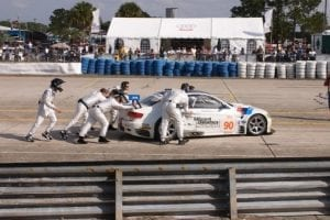 30' x 60' Audi hospitality tent with window sidewalls, and a custom logo at the annual 12 Hours of Sebring race.