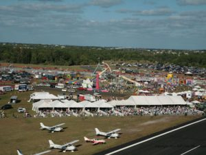 2012 Stuart Air Show featuring six 20' x 40' frame tents and a 40' x 80' future trac tent used for VIP seating.