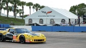40' x 80' hospitality frame tent with window sidewalls at the annual 12 Hours of Sebring race.