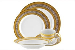 Gold and Platinum Rim China