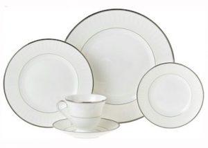 White with Platinum Rim China