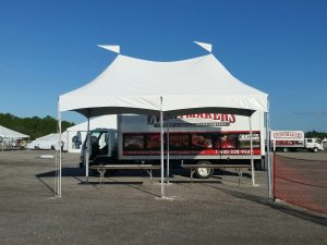 10' x 20' hi-peak tent for check-in at a local airshow.