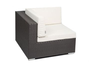 Brown Rattan One Arm Chair