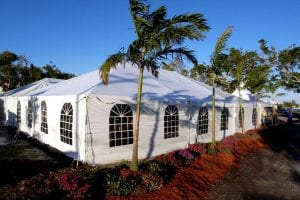 40'' x 60'' frame tent with window sidewalls.