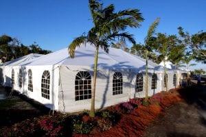 40'' x 60'' frame tent with window sidewalls.