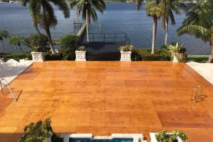30' x 42' pool cover with wood deck at a private residence.