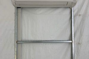 3 ton mini split a/c in a 20' x 20' tent, inside view.